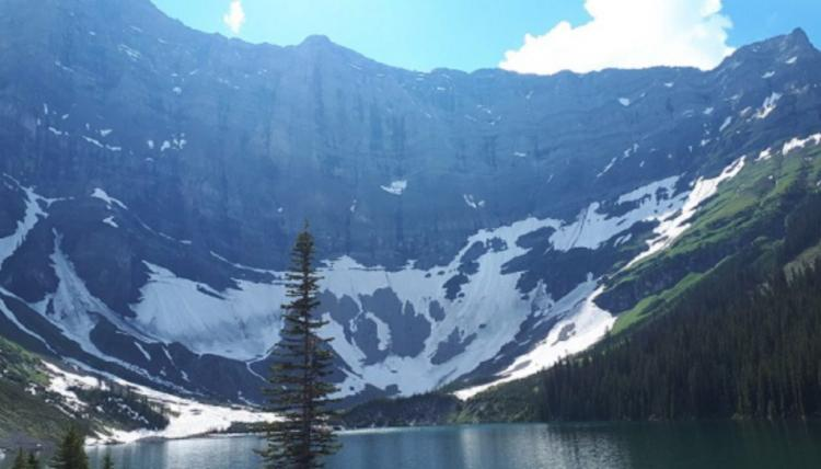 Photo of mountain lake
