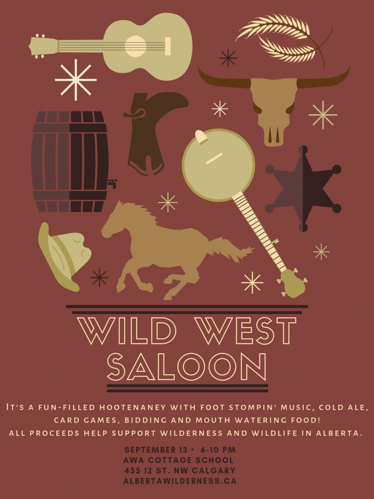Wild West Saloon Poster