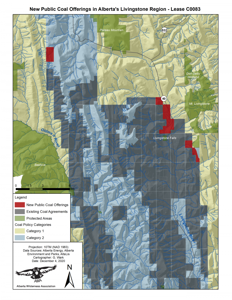 Map of Coal Lease Offers