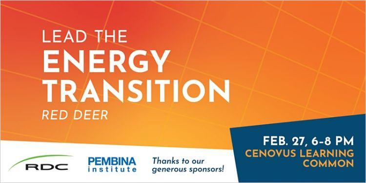 Lead the Energy Transition Red Deer Banner