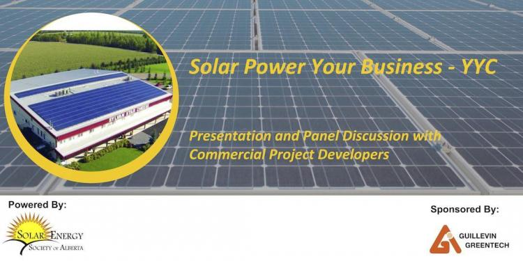 Solar Power Your Business YYC Poster