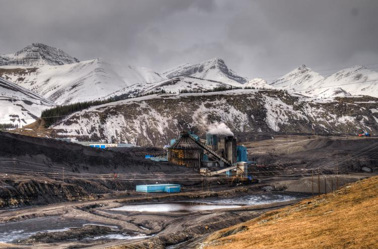 Coal mine in the Alberta Rockies