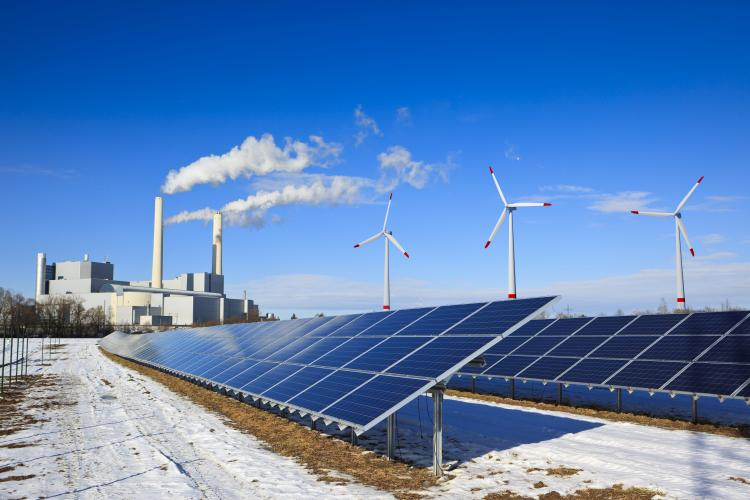Photo of thermal power plant and renewables