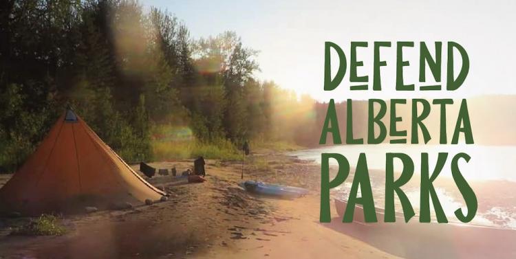 Defend Alberta Parks banner