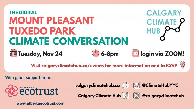 Mount Pleasant & Tuxedo Park Climate Convo Poster