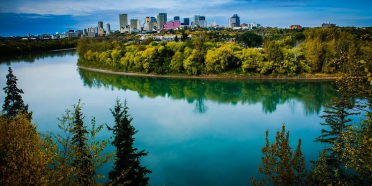 North Saskatchewan River in Edmonton