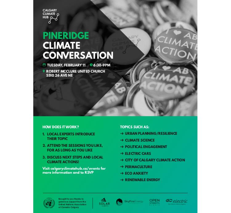 Pineridge Climate Conversation Poster