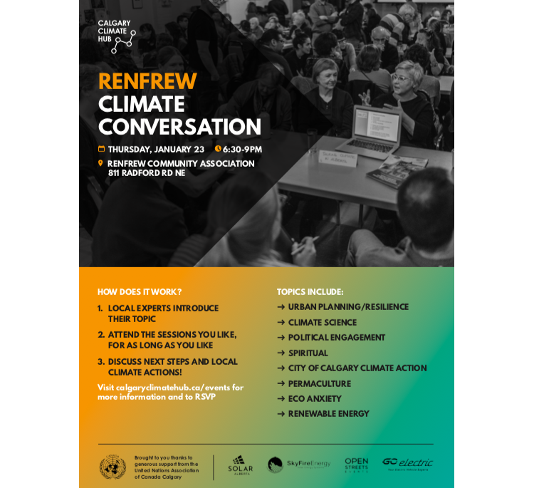 Renfrew Climate Conversation Poster