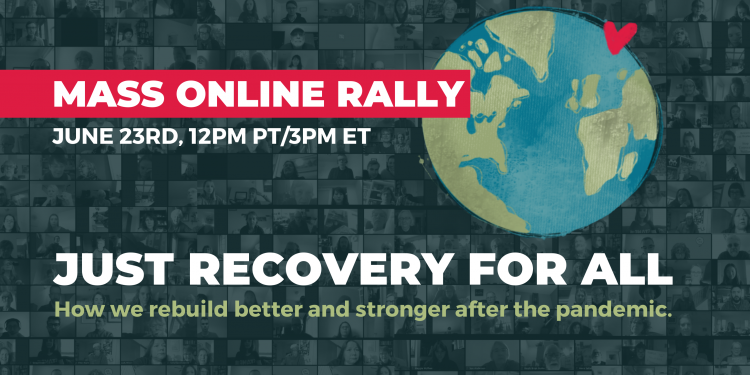Mass Online Rally - Just Recovery for All