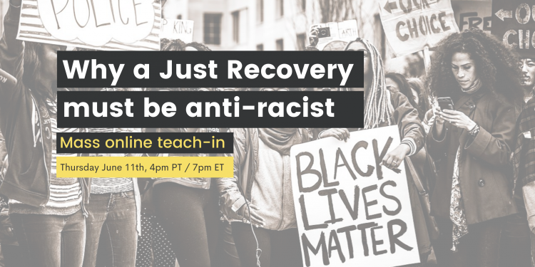 Why a just recovery must me anti-racist